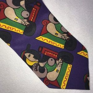 NWT Picasso Collection Abstract Silk Necktie